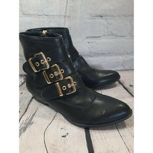 Womens Dolce Vita Ankle Buckle Zip Boots Booties 6